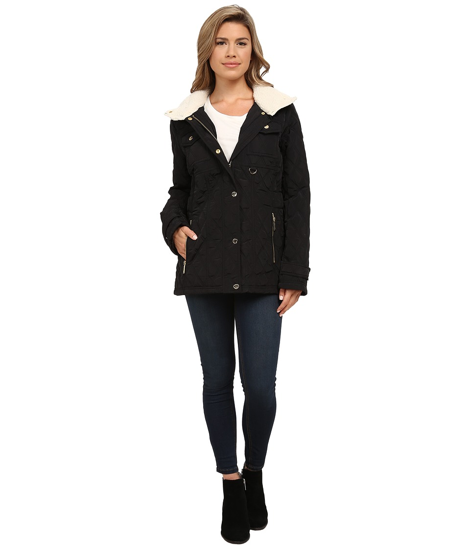 MICHAEL Michael Kors - Quilted w/ Sherpa (Black) Women's Coat