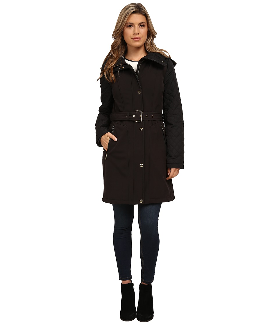 MICHAEL Michael Kors - Quilted Soft Shell Jacket (Black) Women's Coat