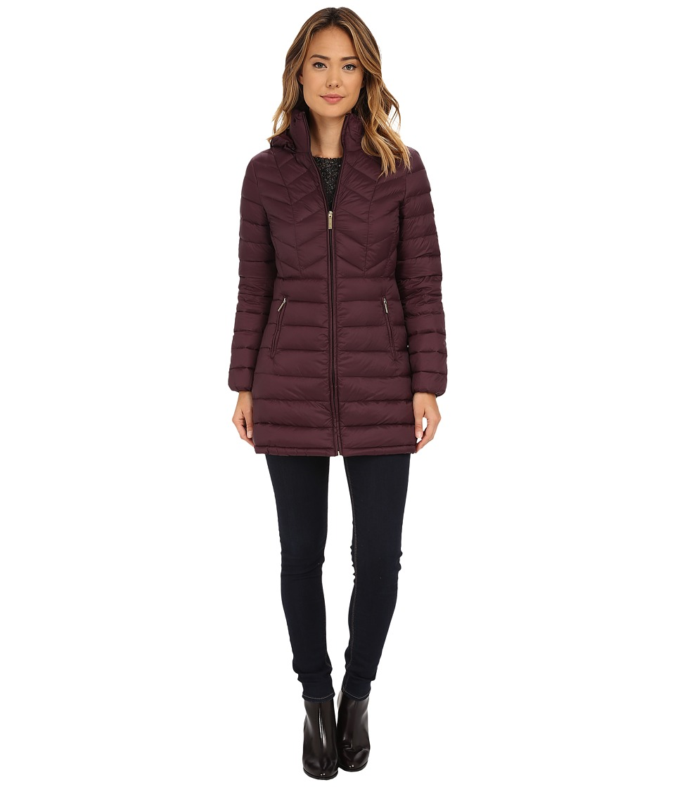 MICHAEL Michael Kors - 3/4 Packable Anorak (Eggplant) Women's Coat