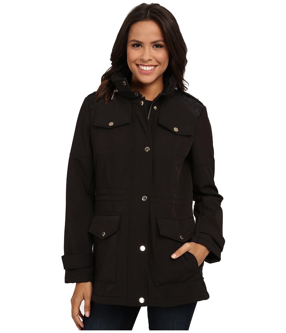 MICHAEL Michael Kors - Anorak Soft Shell (Black) Women's Coat plus size,  plus size fashion plus size appare