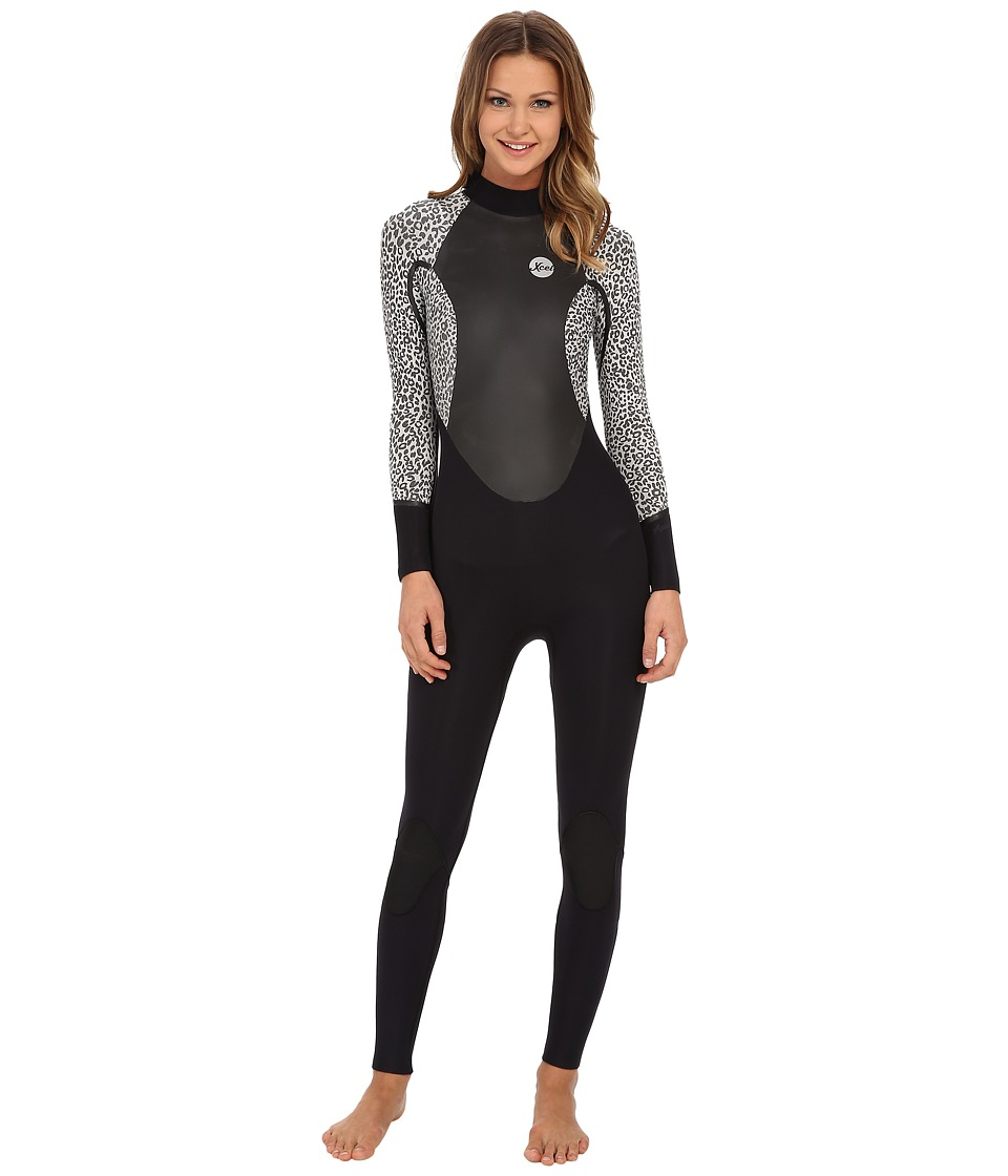 XCEL Wetsuits - 4/3mm OS Axis Quickdry Full Suit (Black/Ice Grey) Women's Wetsuits One Piece