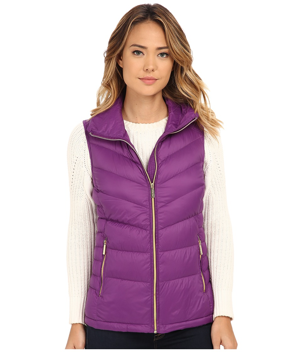 MICHAEL Michael Kors - Stand Collar Packable Vest (Violet) Women's Vest