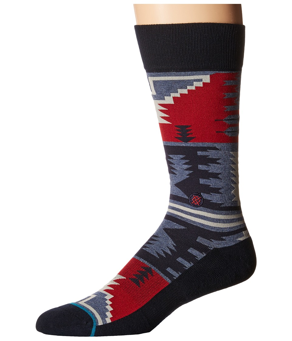 Stance - Cippling (Blue) Men's Crew Cut Socks Shoes