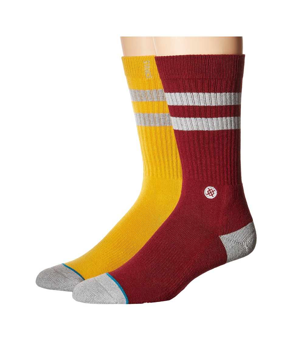 Stance - Cosby (Yellow) Men's Crew Cut Socks Shoes