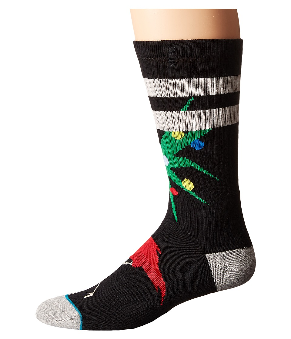 Stance - Dasher (Black) Men's Crew Cut Socks Shoes