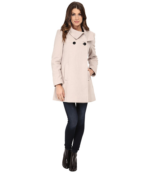 Larry Levine - 3/4 D/B Wool Swing Coat (Stone) Women