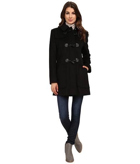 Larry Levine - Wool Duffle (Black) Women's Coat