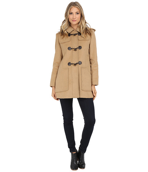 Larry Levine - Wool Duffle (Camel) Women's Coat