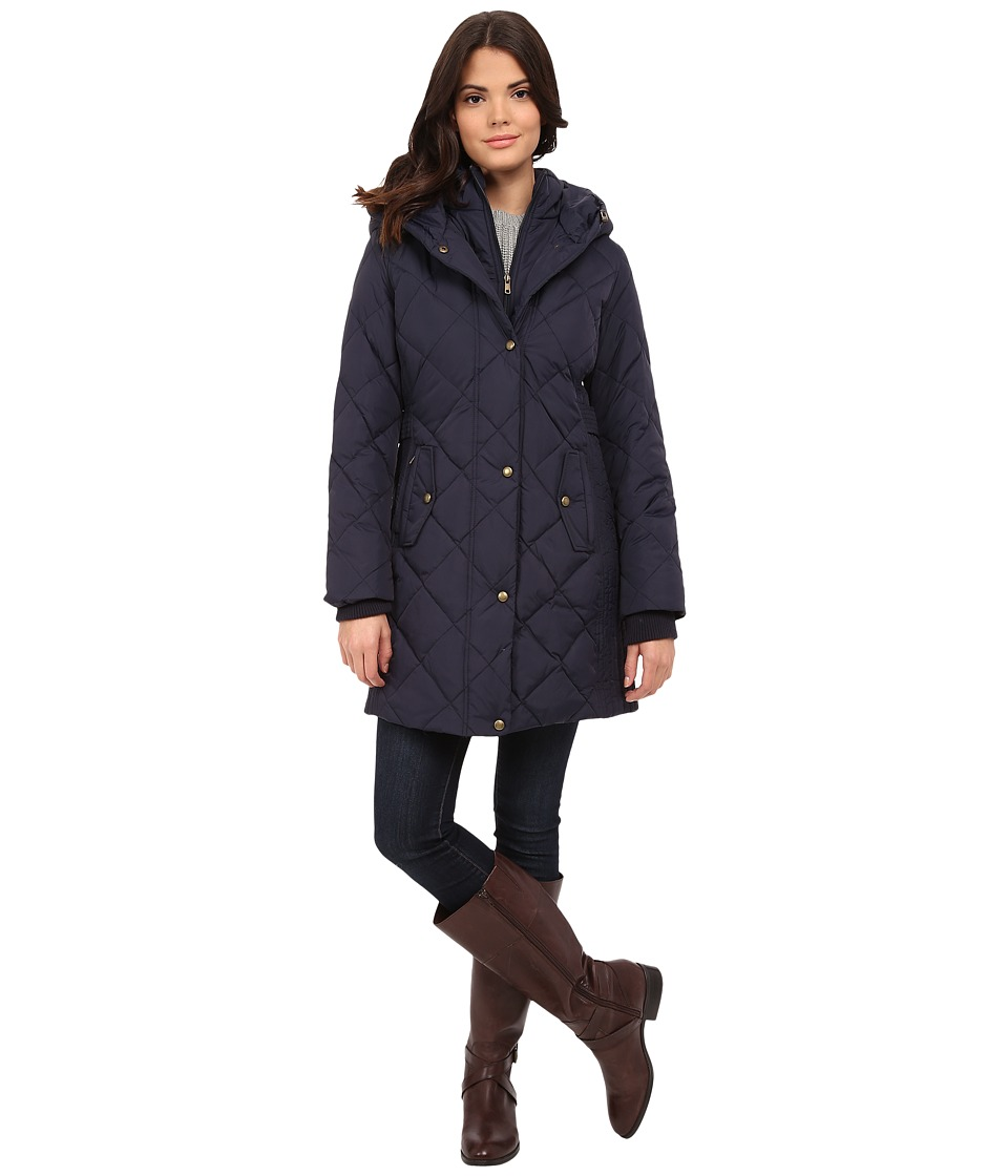 Larry Levine - 3/4 Down with Bib (Midnight) Women's Coat