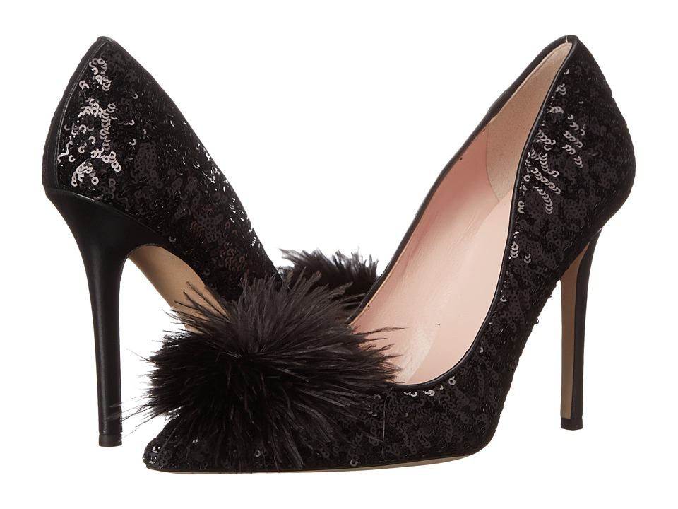 Kate Spade New York - Lexa Too (Black Round Sequins/Black Metallic Nappa) Women's Shoes