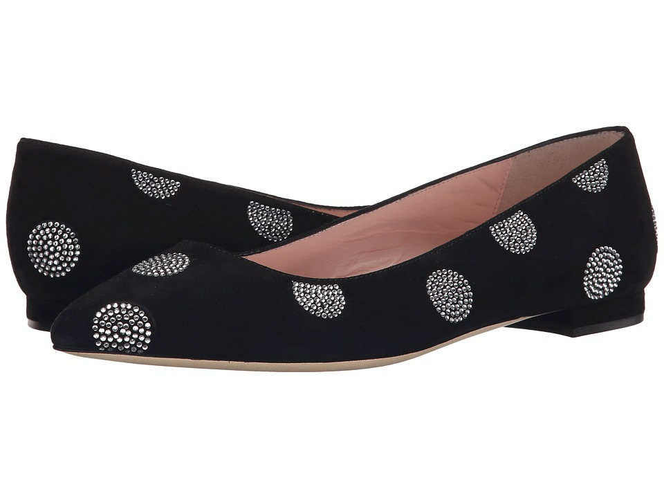 Kate Spade New York - Bayla (Black Suede/Crystal Strass) Women's Shoes