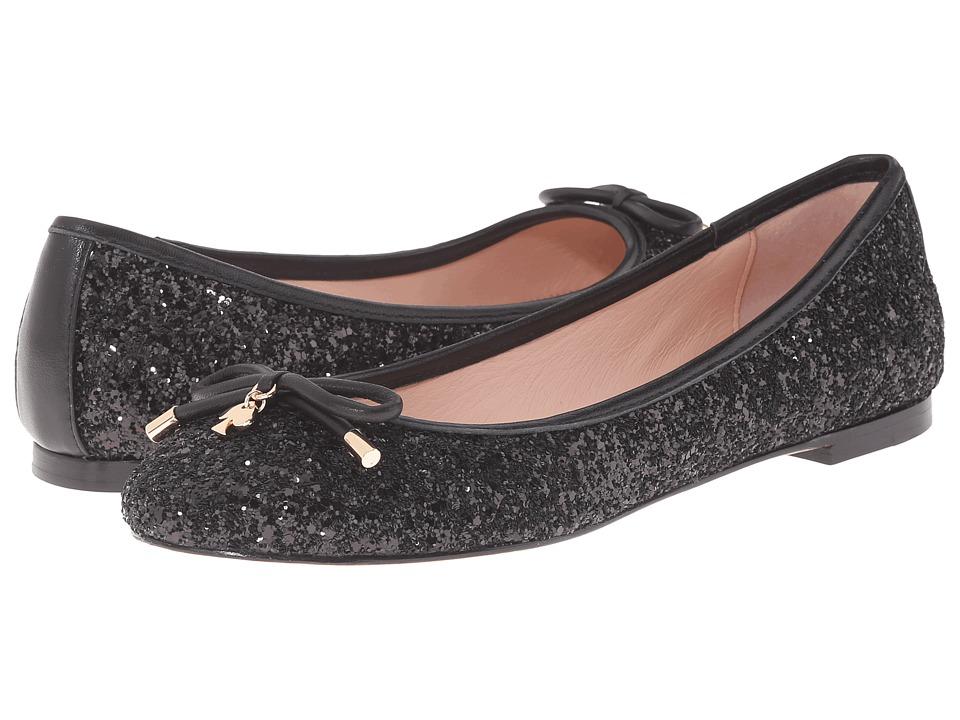 Kate Spade New York - Willa (Black Glitter/Black Nappa) Women's Slip on Shoes