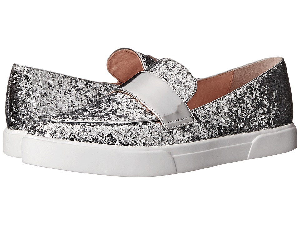 Kate Spade New York - Clove (Silver Glitter/Silver Specchio) Women's Slip on Shoes