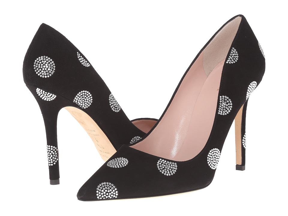 Kate Spade New York - Libby (Black Suede/Crystal Strass) High Heels