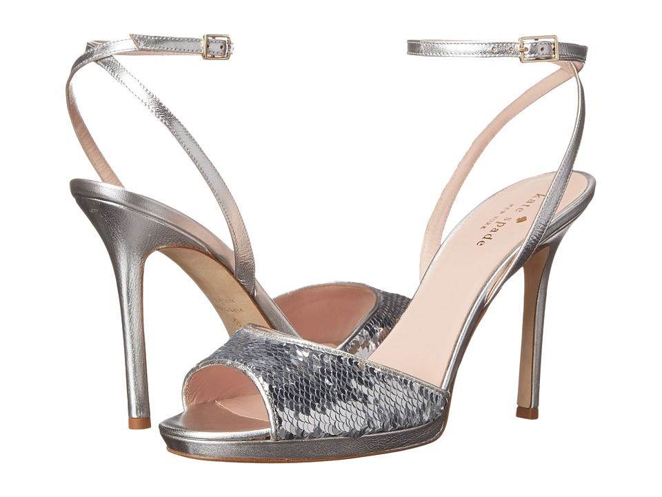 Kate Spade New York - Frankie (Silver Sequins/Aluminum Metallic Nappa) High Heels