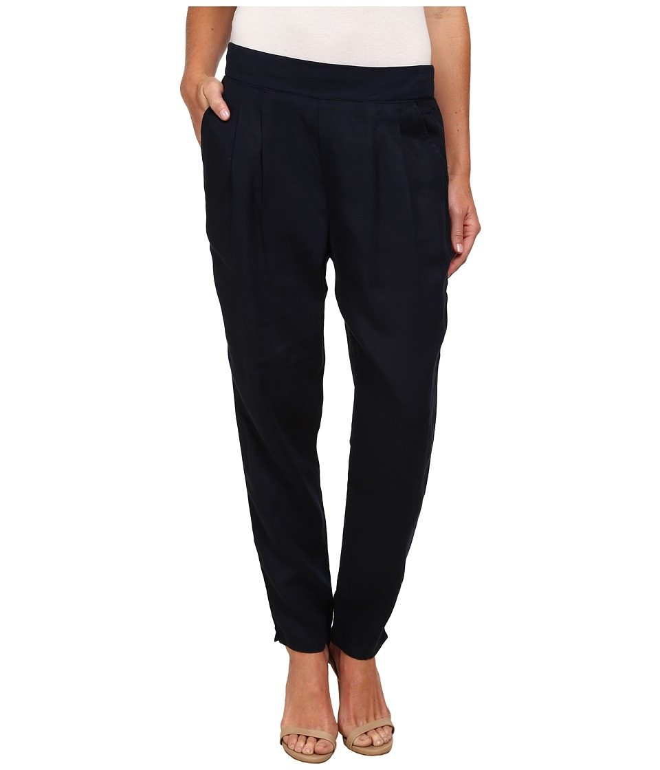 Miraclebody Jeans Ivy Pleated Pull-On Pants (Navy Blue) Women