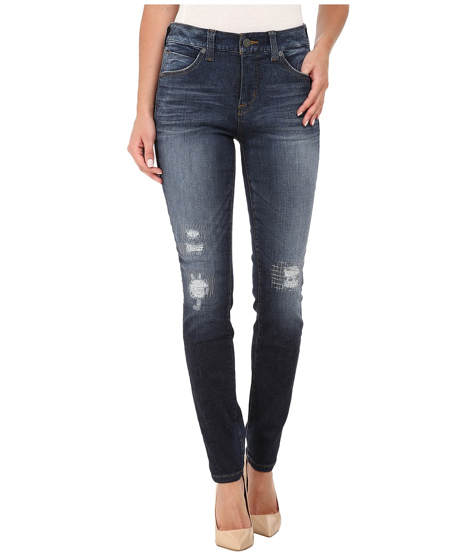 Miraclebody Jeans Rikki Rip Repaired Jeans in Brighton Blue (Brighton Blue) Women