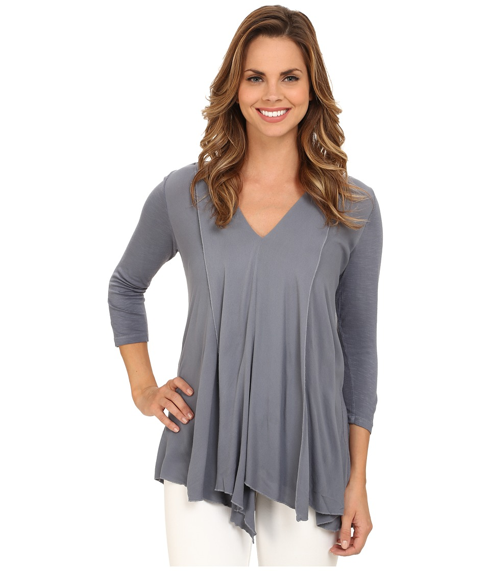 Miraclebody Jeans - Alyse Asymmetrical Top w/ Body-Shaping Inner Shell (Indigo Blue) Women's Long Sleeve Pullover