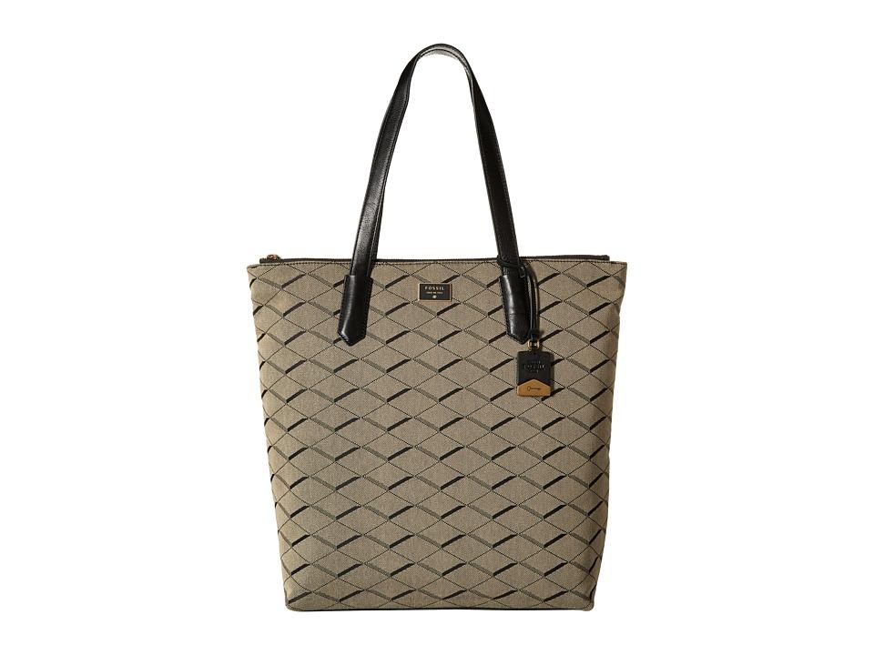 Fossil - Bella Tote (Grey/Black) Tote Handbags