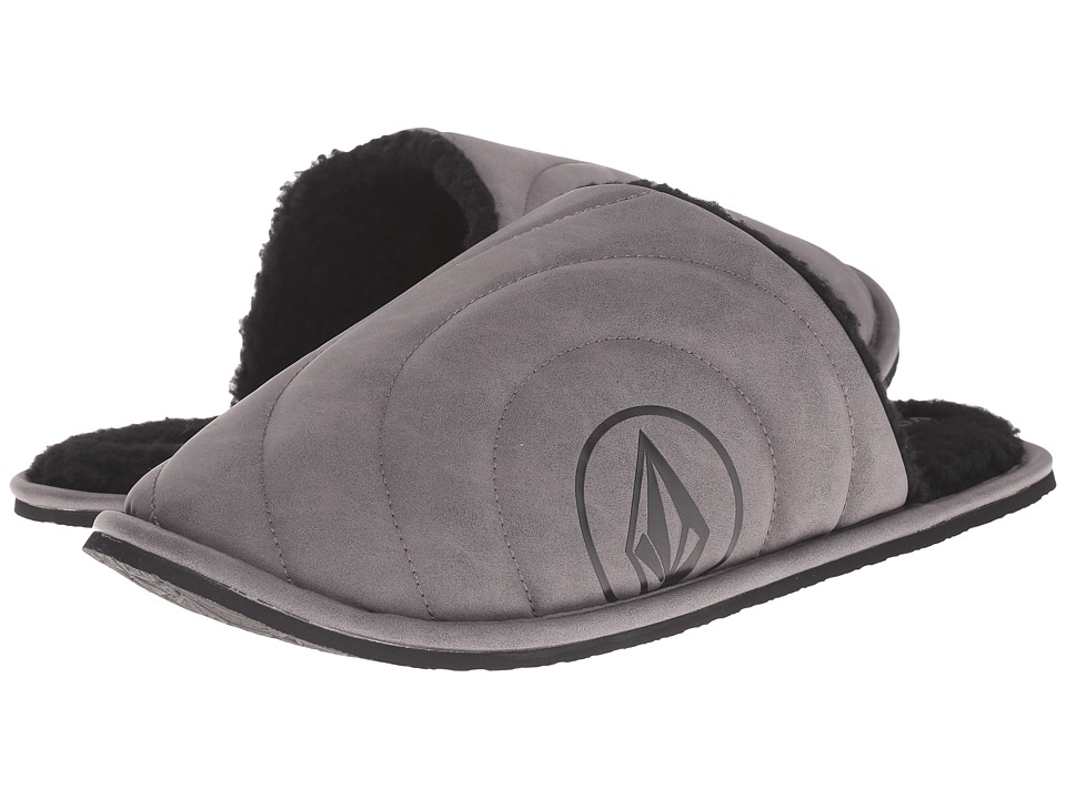 Volcom - Slacker Slipper (Black/Grey 1) Men's Slippers