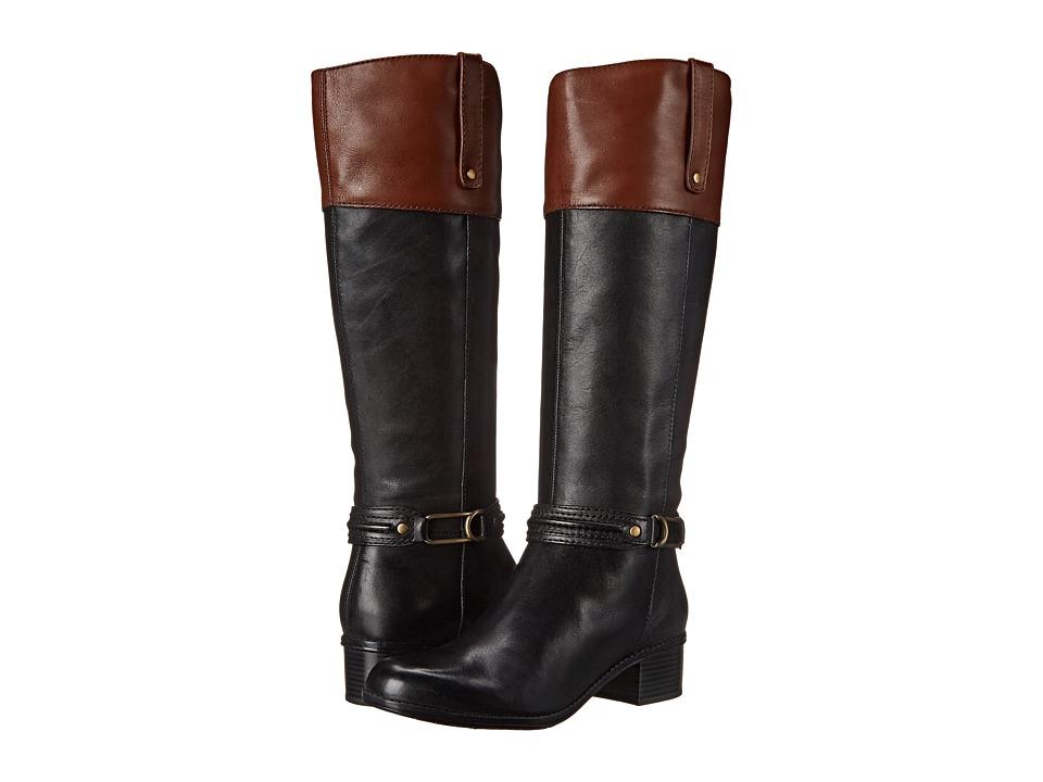Bandolino - Coloradee (Black/Cognac Leather) Women's Boots