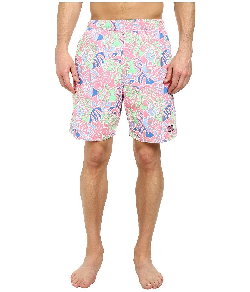 Vineyard Vines - Tropical Leaves Chappy Trunk (Bahama Breeze) Men's Swimwear