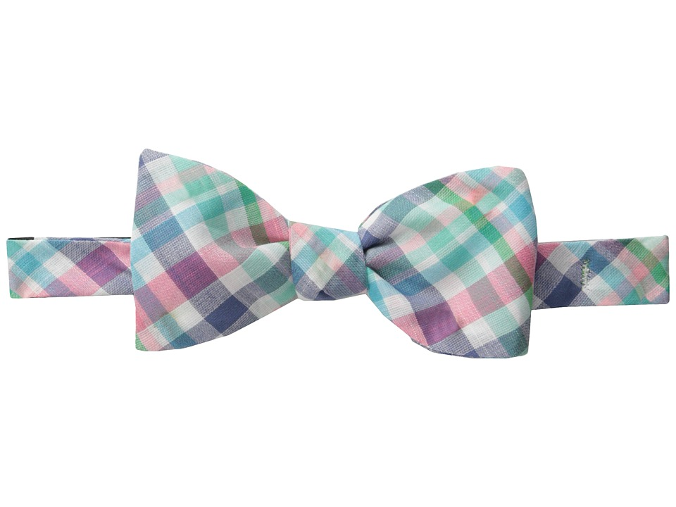 Vineyard Vines - Madras Bow Tie-Minnow Plaid (Raspberry) Ties