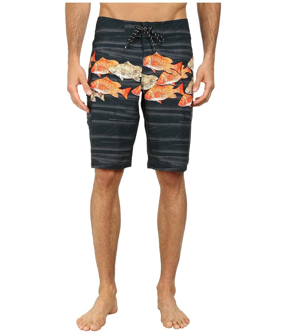 Reef - Schooled Boardshorts (Black) Men's Swimwear