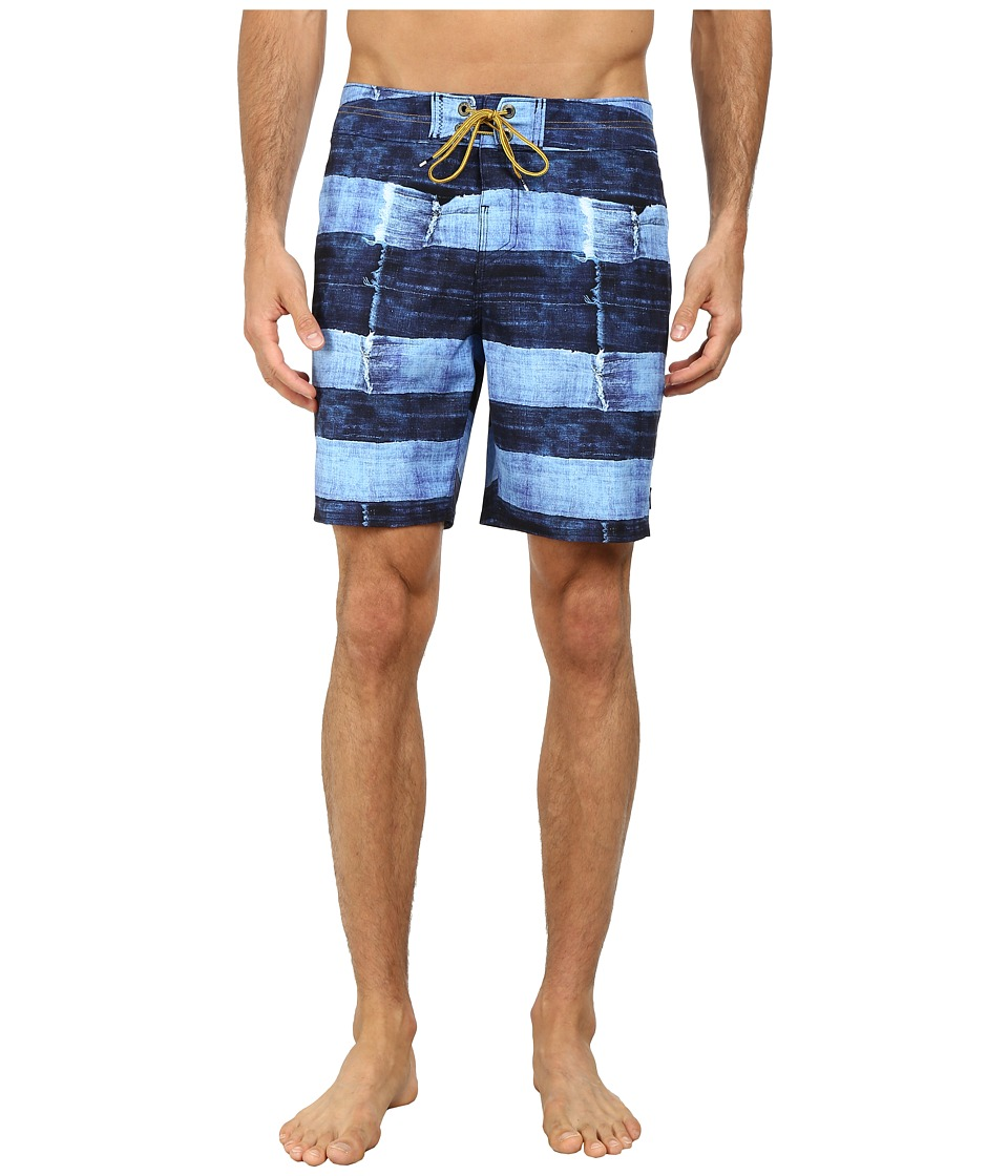 Reef - Torn Salvage Boardshorts (Blue) Men's Swimwear