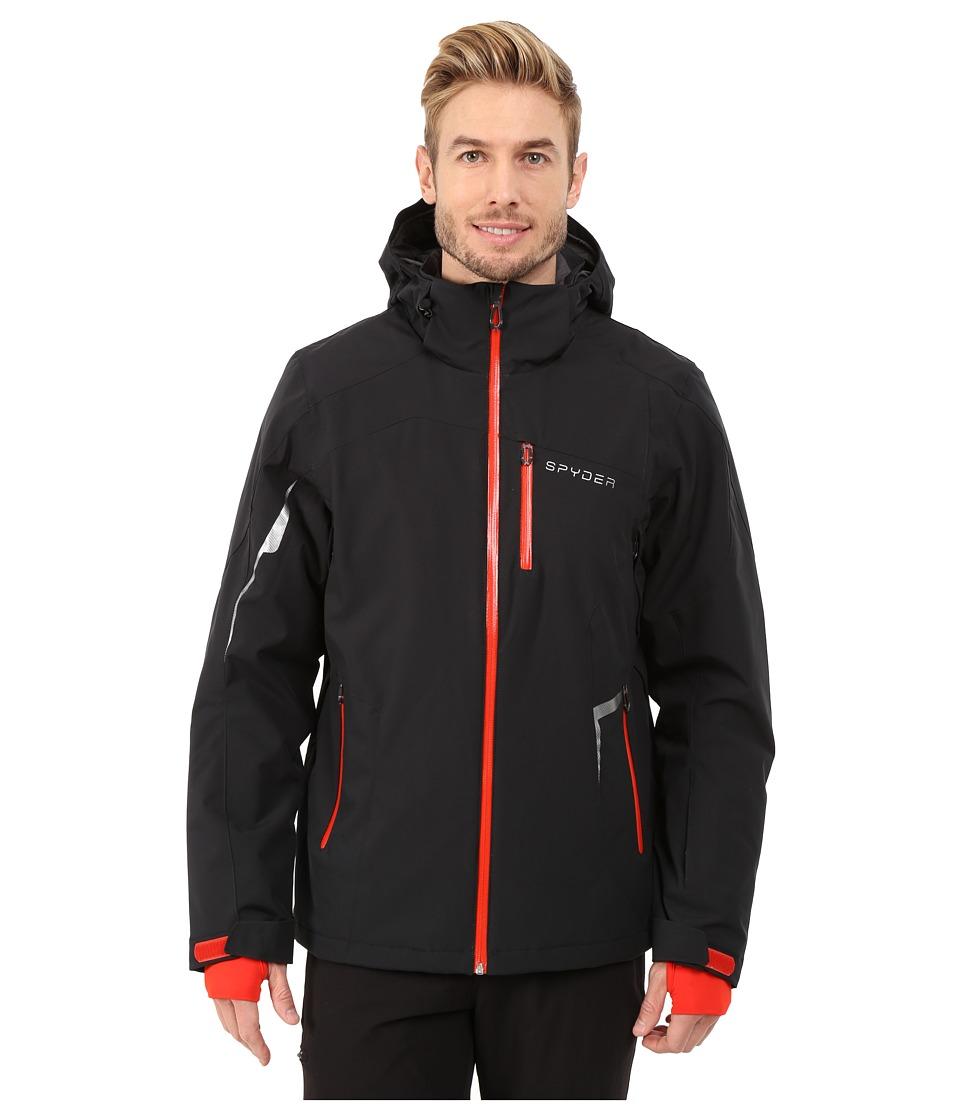 Spyder - Chambers Jacket (Black/Black/Volcano) Men's Jacket