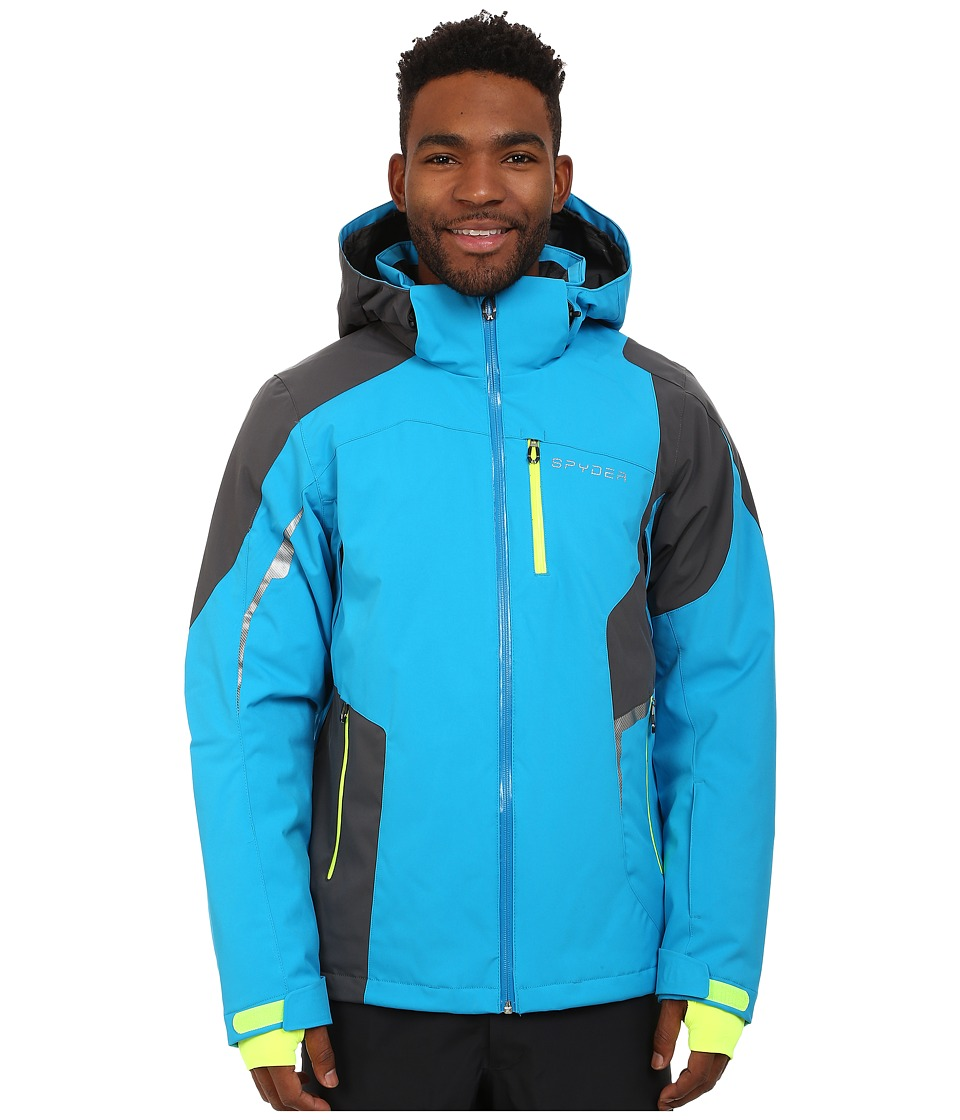 Spyder - Chambers Jacket (Electric Blue/Polar/Bryte Yellow) Men's Jacket
