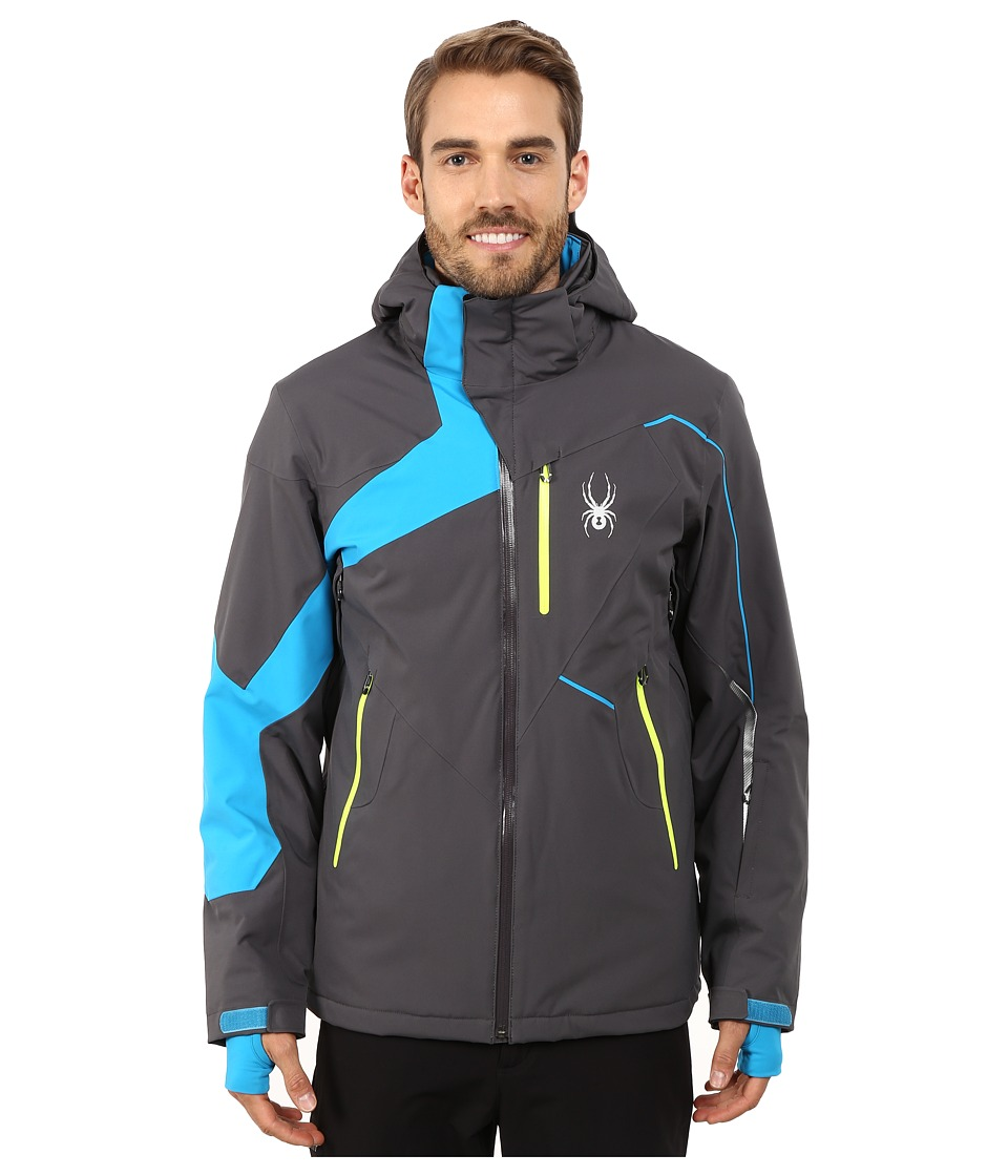 Spyder - Rival Jacket (Polar/Electric Blue/Bryte Yellow) Men's Coat
