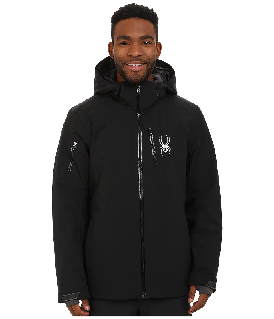 Spyder - Squaw Valley Jacket (Black/Polar/Polar) Men's Coat