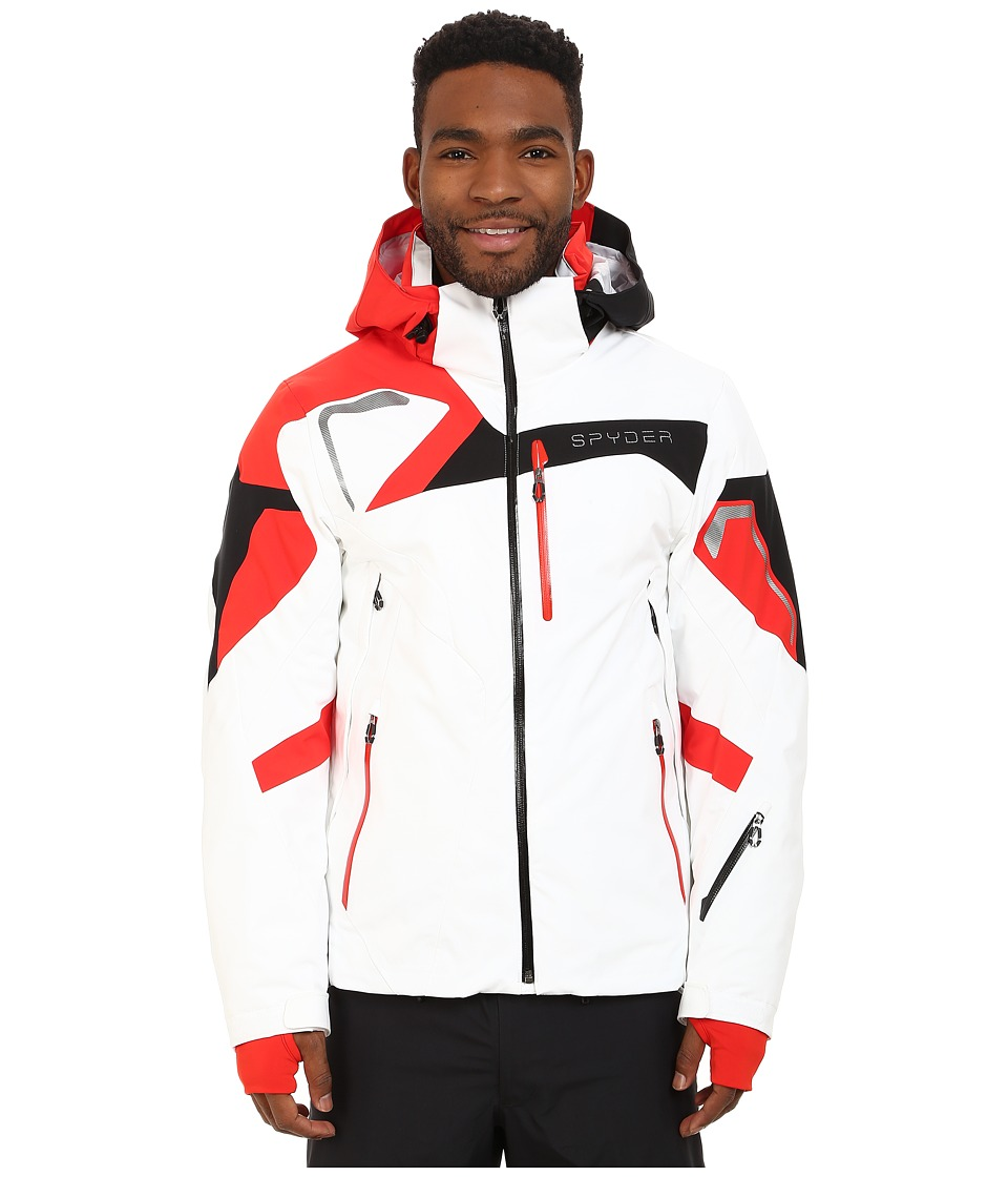 Spyder - Titan Jacket (White/Volcano/Black) Men's Coat