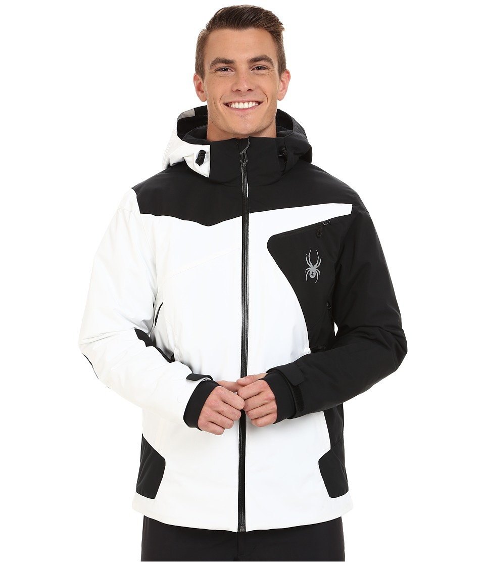 Spyder - Sentinel Jacket (White/Black) Men's Coat
