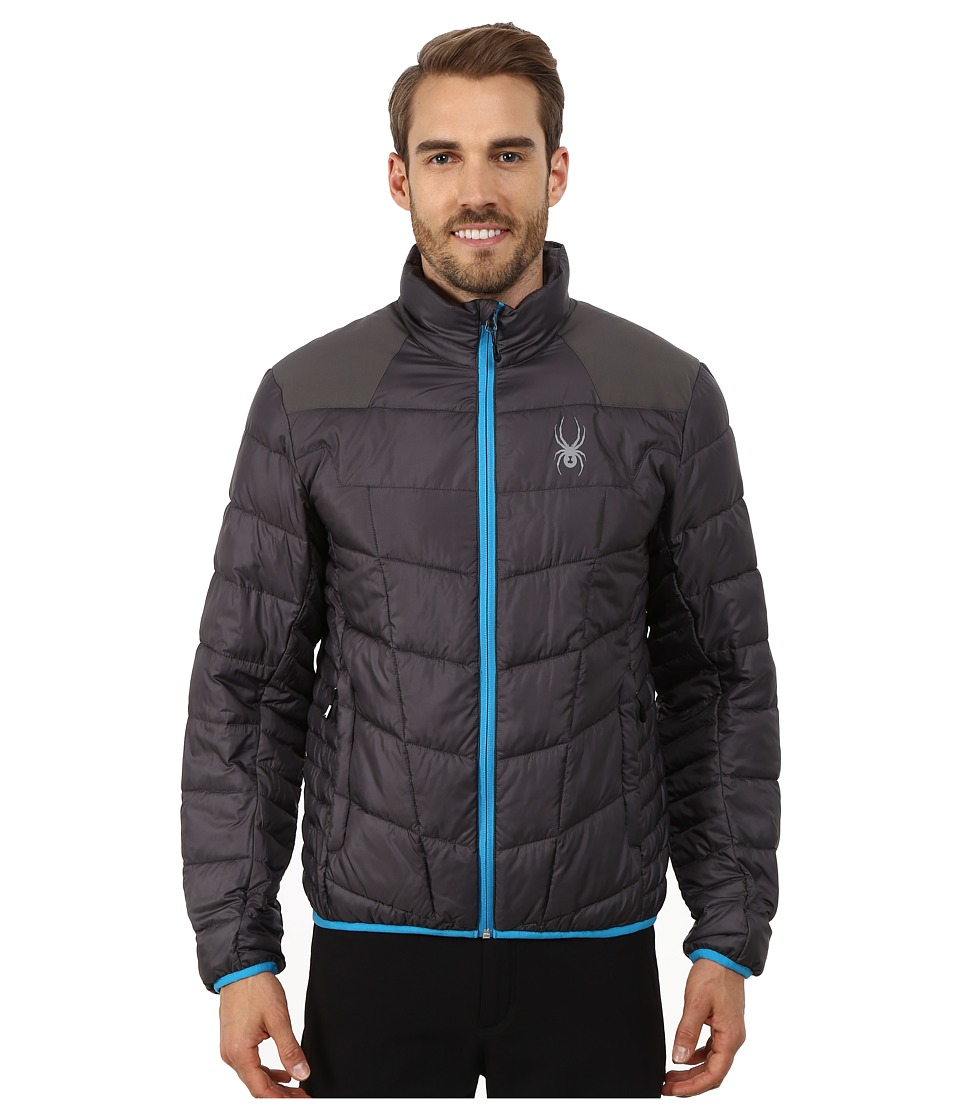Spyder - Geared Synthetic Down Jacket (Polar/Electric Blue) Men's Jacket