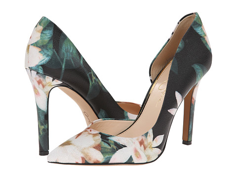 Jessica Simpson - Claudette (Black Multi Watercolor Floral Nappa) High Heels