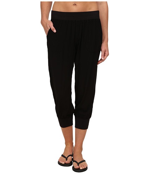 Pink Lotus - Leisure Woven Sweatpants (Black) Women's Workout
