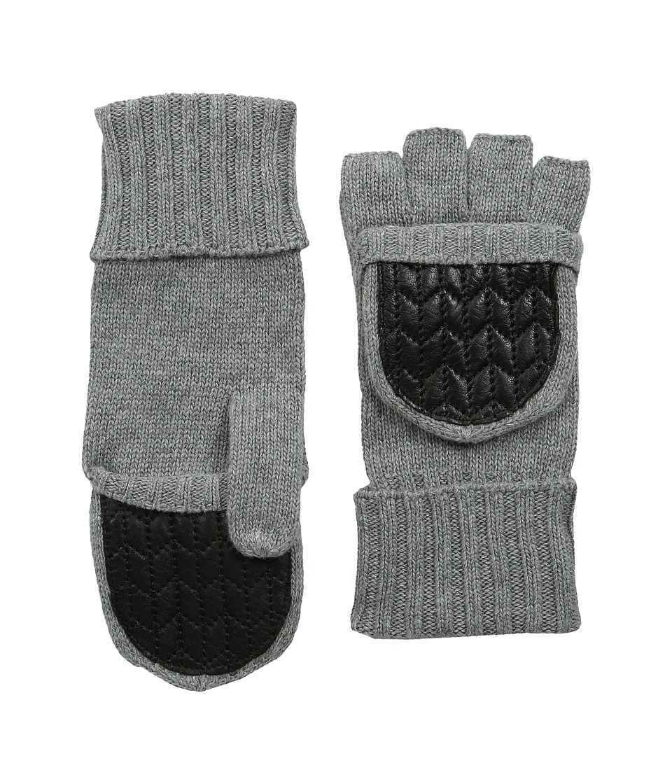 LAUREN Ralph Lauren - Quilted Nappa Glove Mitt (Fawn Grey) Dress Gloves