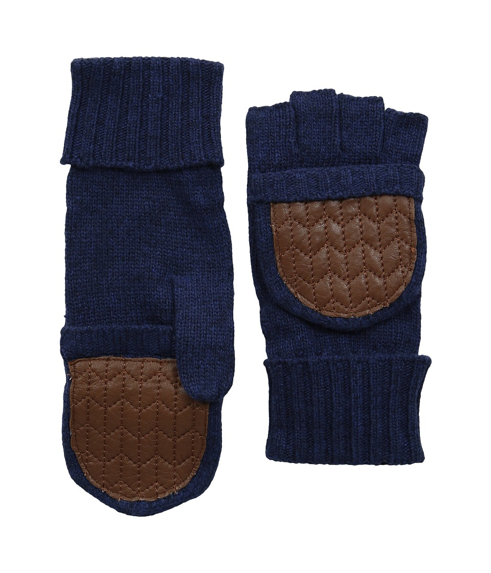 LAUREN by Ralph Lauren - Quilted Nappa Glove Mitt (Denim Heather) Dress Gloves