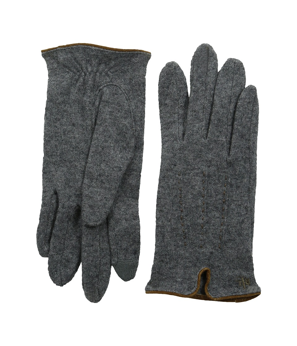 LAUREN Ralph Lauren - Contrast Points Touch Glove (Heather Grey/Saddle) Dress Gloves