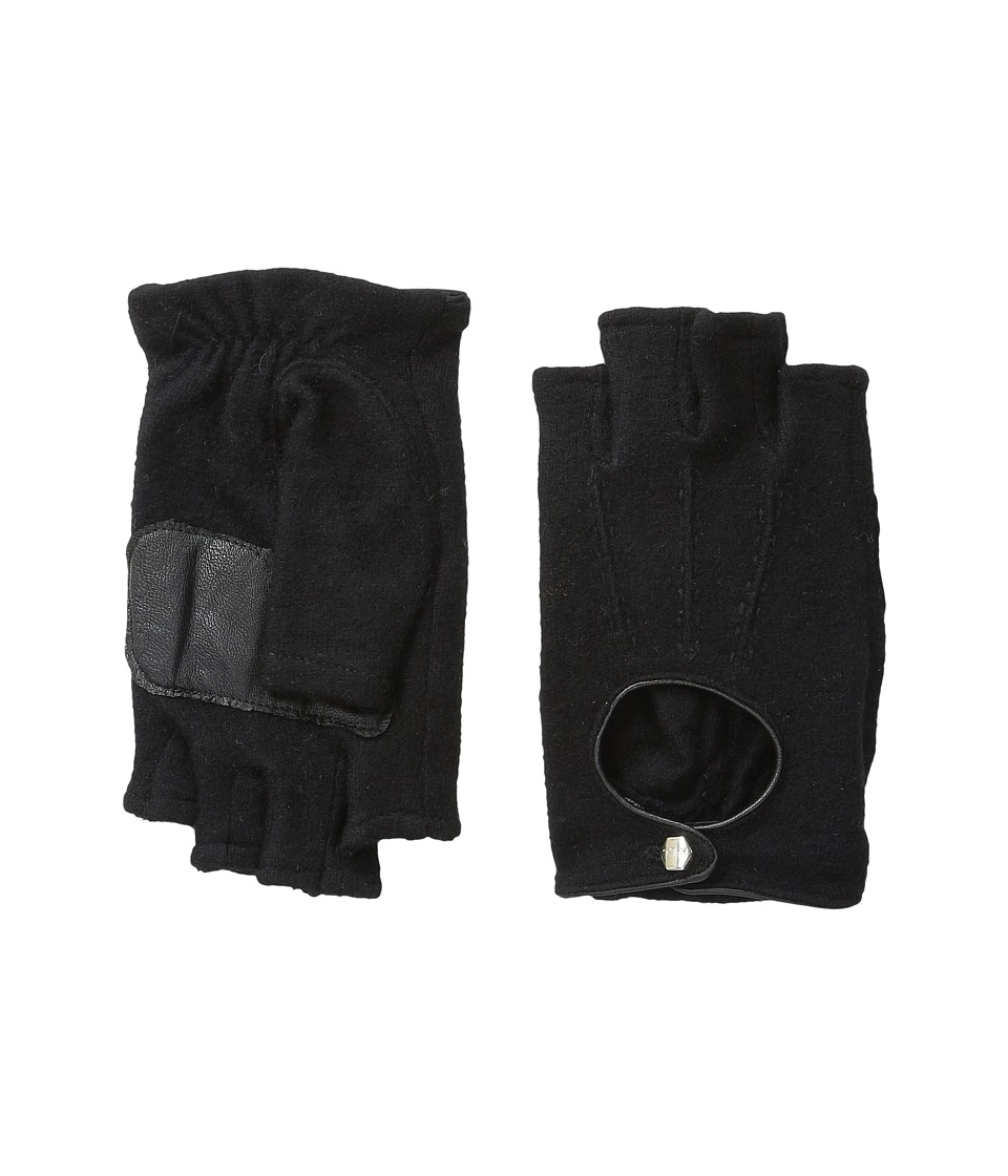 LAUREN by Ralph Lauren - Fingerless Cut and Sew Glove (Black/Black) Dress Gloves
