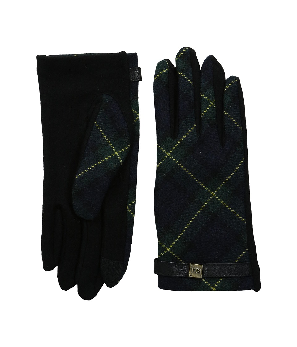 LAUREN Ralph Lauren - Tartan Logo Cube Touch Glove (Blackwatch) Extreme Cold Weather Gloves