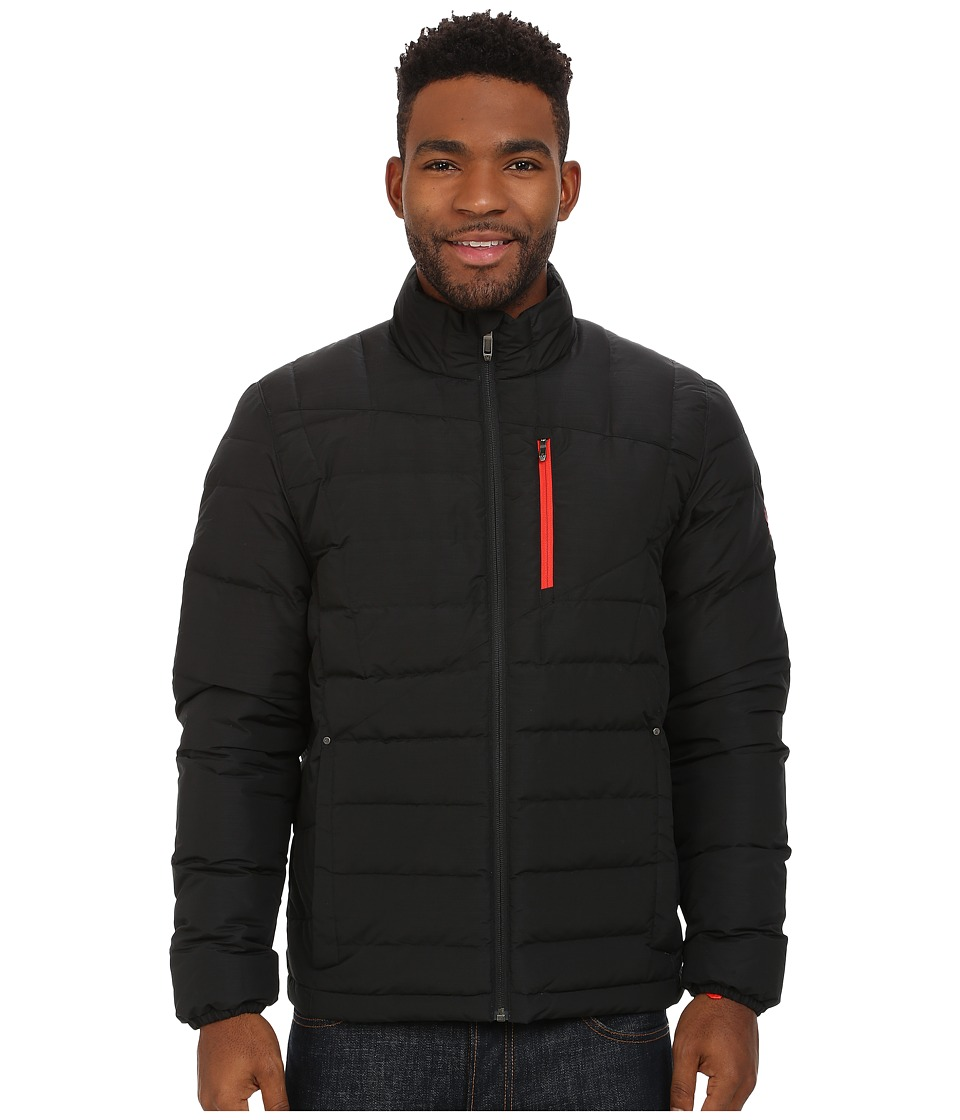 Spyder - Dolomite Full Zip Down Jacket (Black/Volcano) Men's Jacket