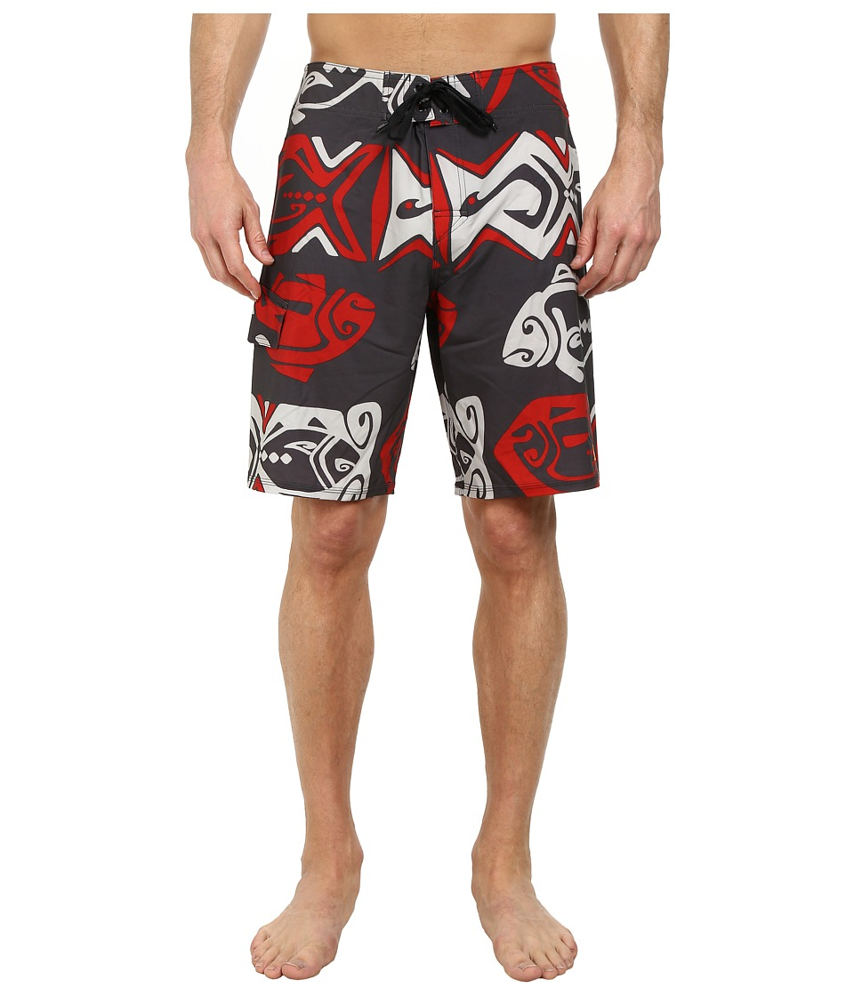 Quiksilver Waterman - Angler Boardshorts (Gunmetal) Men's Swimwear