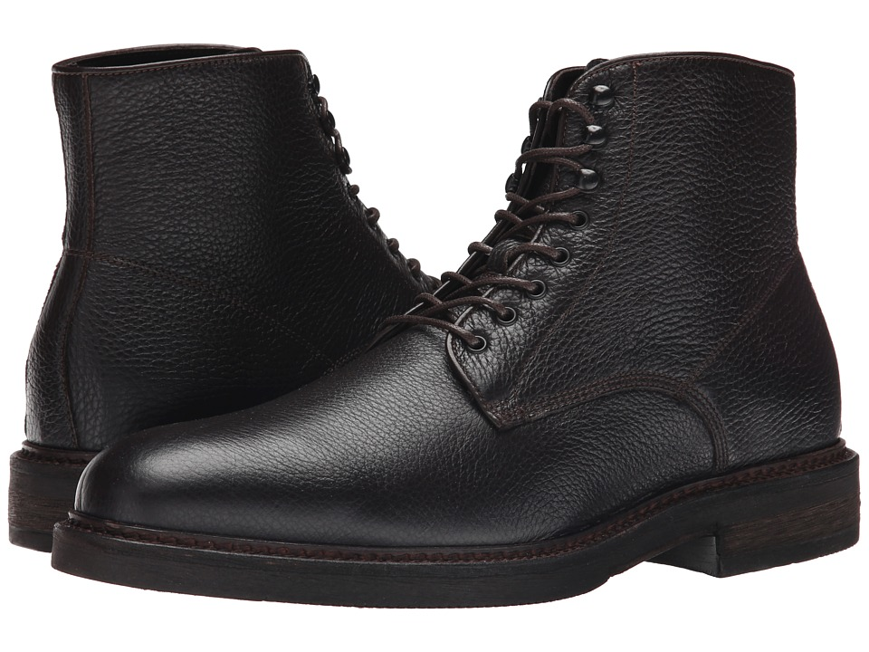 Testoni BASIC - DO47071 Bogota Calf Lace Up Ankle Boot (Testa Di Moro Bogota Calf) Men's Boots