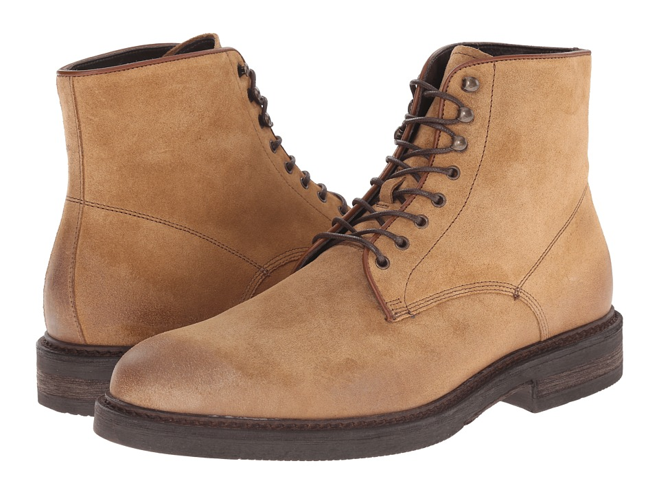 Testoni BASIC - DO47071 Bogota Calf Lace Up Ankle Boot (Cuoio Vintage Moro Suede) Men's Boots