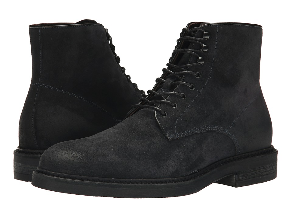 Testoni BASIC - DO47071 Bogota Calf Lace Up Ankle Boot (Navy Vintage Moro Suede) Men's Boots