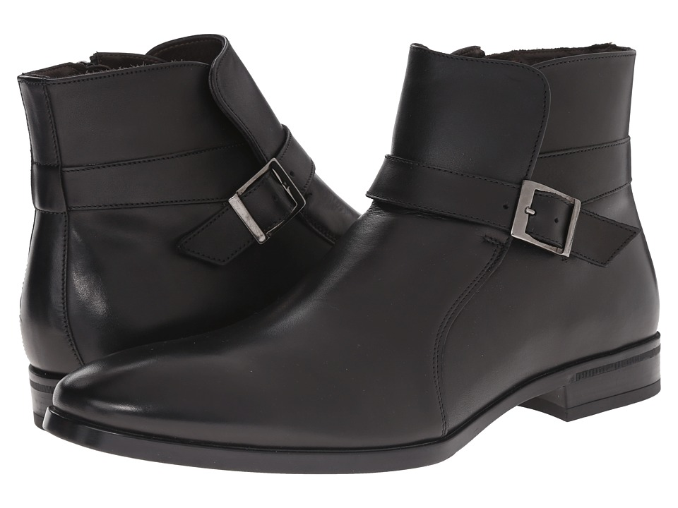 Testoni BASIC - DO47069 Rubber Calf Peru Ankle Boot (Nero/Dark Metal Rubber Peru Calf) Men's Boots