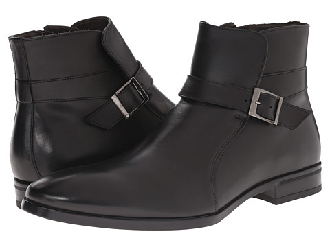 Testoni BASIC - DO47069 Rubber Calf Peru Ankle Boot (Nero/Dark Metal Rubber Peru Calf) Men